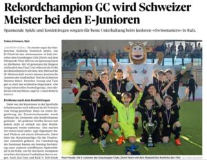 GC wird Schweizer Meister